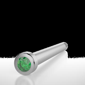3 Souls (rods) set with a Green Diamond cut CZ